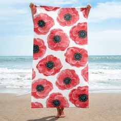 Buy unique print-on-demand products from independent artists worldwide or sell your own designs at the drop of an image! Beach Toys, Scarf Design, Watercolor Pattern, Red Poppies, Animal Paintings, Online Printing, Pattern Design, Towel, Birds