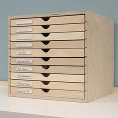 New Paper Storage Drawers Spaces Ideas Rangement Art, Storage Cabinet With Drawers, Kindergarten Classroom Decor, Stamp Storage, Marker Storage, Drawer Organisers, Decoration Design, Diy Desk, Craft Organization