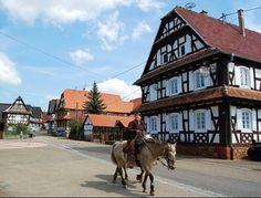 HUNSPACH, l'un des plus beaux villages de France