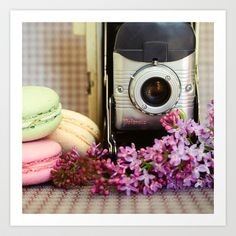 Polaroid and Macarons Art Print by Olivia Joy StClaire - $19.00