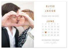 Calendar Save the Date Cards