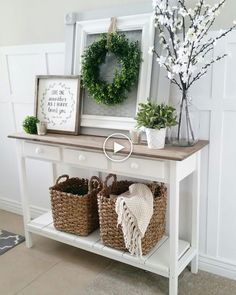 Awesome kitchen style are offered on our web pages. Take a look and you wont be sorry you did. Shabby Chic Entryway, Shabby Chic Kitchen Decor, Shabby Chic Furniture, Entryway Decor, Farmhouse Decor, Entryway Ideas, Modern Farmhouse, Antique Furniture, Foyer
