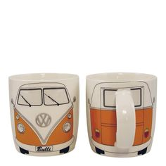 Orange VW Bus Coffee Mug! Introducing the New VW Collections at www.coolvwstuff.com Hundreds of Officially Licensed Volkswagen Products and Ship Globally!