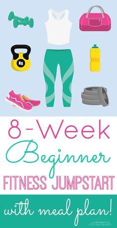 Get Ready: 8-Week Beginner Fitness Jumpstart - 8 weeks of free workouts and healthy dinner meal plan to get you feeling your best! #fitness #fitnessjumpstart #health #healthy [sponsored] Happiness is Homemade