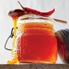 Chile-Infused Honey | Cooking Light   4 dried chipotle chiles  6 dried chiles de arbol, divided  1.5 cups wildflower honey (~1 lb.)  1/4 tsp. kosher salt