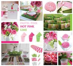 Color Party Inspiration : Pastel Pink, Berry and Lime    Some colour inspiration to celebrate our new lime and berry/hot pink partyware arriving.....xx