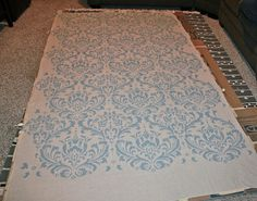 Damask Stenciled Curtain - never have to worry about not finding the right pattern or color again : )