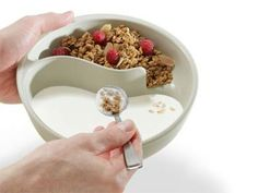 """""""Never soggy cereal bowl - An elegant solution to one of the First World's most enduring problems."""" :)"""