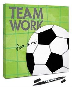 12x12 canvas that the whole #soccerteam can sign at the end of the season party! Great #sportskeepsake idea for players, #teammoms and coaches!