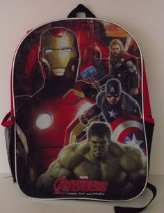 "BACKPACK MARVEL AVENGERS IRON MAN 15"" Book Bag School Boys  #Marvel #Backpack"
