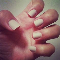 nude matte nails <3