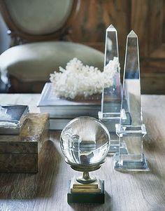 Obélisques en cristal.