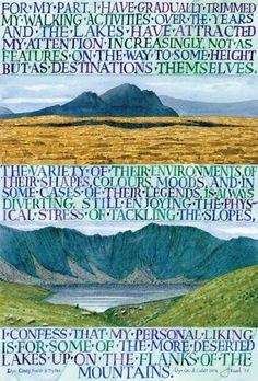 Jonah Jones (1919 - 2004). Llyn Caseg Ffraith and Tryfan.