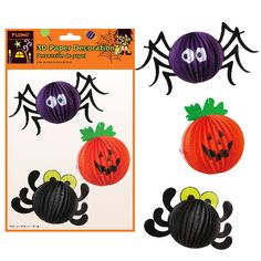 13 Inch W X 8 Inch H 3D Paper Decoration 3 Assortments/Case of 72 Tags:  Decoration; Halloween; halloween party tableware;Decoration;Halloween Decoration; https://www.ktsupply.com/products/32795348775/13-Inch-W-X-8-Inch-H-3D-Paper-Decoration-3-AssortmentsCase-of-72.html