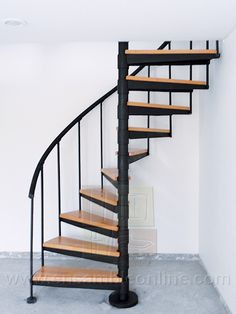Of half snail. Spiral Staircase Kits, Spiral Stairs Design, Small Staircase, Home Stairs Design, Interior Stairs, Modern Staircase, Home Room Design, Farmhouse Stairs, Modern Small House Design