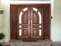 Are you looking for the best wooden doors for your home that suits perfectly? Then come and see our new content Wooden Main Door Design Ideas. Home Door Design, Wooden Main Door Design, Double Door Design, Front Door Design, Front Door Decor, Craftsman Front Doors, Exterior Front Doors, Entry Doors, Patio Doors
