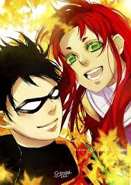 starfire and robin d'autunno