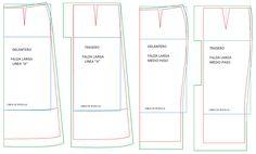 El trazo de la falda recta clásica es la base para trazar otros modelos, también de estilo sastre.     Recuerda que las líneas azules son la...