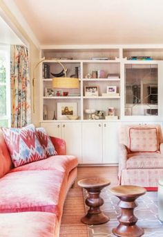 """Foolproof Colors! Ceiling: Sprout .06, Colorhouse Paint. """"I always return to this color for ceilings,"""" says interior designer Chloe Warner. """"It isn't so pink that it stands out, but it reflects flatteringly on everyone in the room."""""""