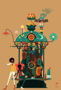 illustrazioni fantasy jonathan stroh machine
