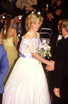 November 19, 1984: Princess Diana  at the Royal Variety Performance at the Victoria Palace Theatre, London.