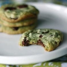 Mint Chocolate Marijuana Chip Cookies