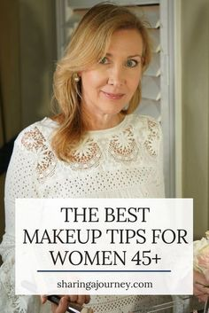 Jane Ireland makeup tutorial for women over 50. The women in my dermatologist's office loved it because it gives the coverage women are looking for, (including covering acne and rosacea) is comfortable, healing, and beautiful on the skin. Click here to get my best makeup tips for older women and learn how to apply makeup to look younger! #beautytips #beauty for women 45+ #make up for women 45+ #easy makeup