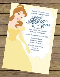 bridal shower invitations shower invitations and princess belle on