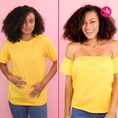 Ideas to Transform Basic Blouses - # Sew . Diy Fashion, Fashion Outfits, Fashion Tips, Diy Kleidung Upcycling, Diy Clothes Refashion, Diy Clothes Videos, How To Make Clothes, Clothing Hacks, Cut Shirts