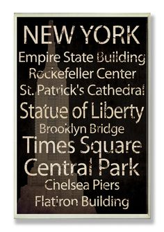 NYC places. :)  Don't forget to visit 5th Ave, Little Italy, and Sho Ho too!