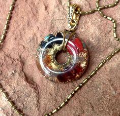 Orgone Necklace *FireFusion* Orgonite Pendant with Garnet, Basonite,Labradorite, Carnelian, Coral, Lapis, Turquoise, Malachite, Neodymium by SourceFieldOrgone on Etsy