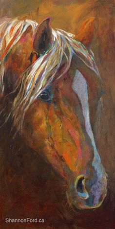Pal-O-Mine-O Inspired by the Golden Beauty of a Palomino mare 36 X 18 Acylic on Canvas Available through Gainsborough Galleries CALGARY, ALBERTA