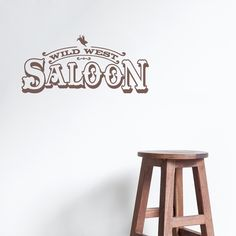 Going for a #western or #country theme in your home? Wild West Saloon Wall Quote Decal will add the right touches!