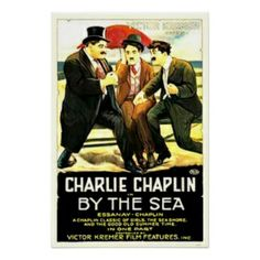 """Charlie Chaplin """"By The Sea"""" Movie Poster"""