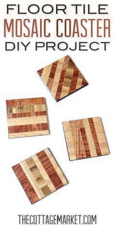 Floor Tile Mosaic Coaster DIY Project - The Cottage Market
