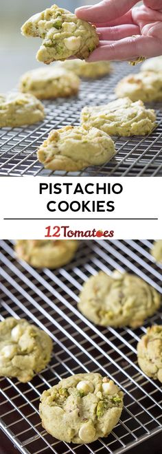 Pistachio Pudding Cookies - These aren& your routine, run of the mill cooki. Chocolate Marshmallow Cookies, Chocolate Chip Shortbread Cookies, Toffee Cookies, Spice Cookies, Yummy Cookies, Chocolate Chips, White Chocolate, Cookie Recipes, Dessert Recipes