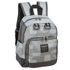 Minecraft Backpack School Daypack Miner Mini Boys Travel Book Bag Accessory Grey for sale online Grey Backpacks, Kids Backpacks, School Backpacks, Stylish Backpacks, Small Backpack, Hiking Backpack, Mini Backpack, Minecraft Backpack, School Bags For Boys