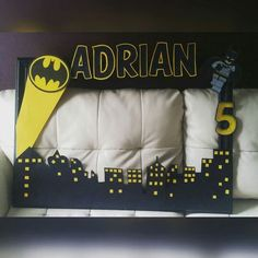 Batman lego Birthday Photo Frame by Beautified Creations