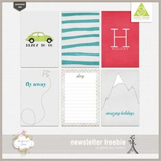 Free On The Road Again Journal Cards from Scooty Designs {store checkout required}