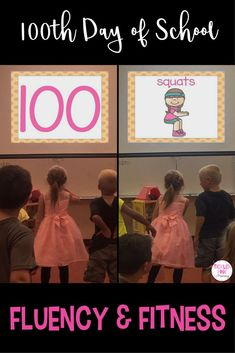 If you need 100th day of school activities or new ideas, try Fluency & Fitness! This game will allow your students to work on numbers 1-100 (in mixed order) and get a fun brain break in with exercise every few slides! Use the recording sheet if you'd rather have your class write their numbers to 100.