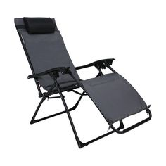 With a super comfy backrest and spring loaded frame, this lounging recliner is just what you need as you sit back and relax under the sky on a fun camping trip. Outdoor Chairs, Outdoor Furniture, Outdoor Decor, Sit Back And Relax, Recliner, Sun Lounger, Comfy, Camping, Home Decor