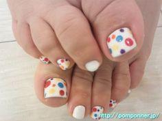 Foot Nail colorful dots