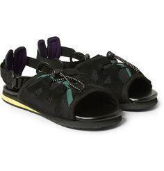 Kolor Leather and Mesh Sandals Flip Flop Sandals, Flip Flops, All About Shoes, Designer Sandals, Sport Sandals, Slippers, Footwear, Man Shop, Mens Fashion
