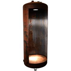 Steel Tank Lighted Display Piece | From a unique collection of antique and modern industrial furniture at http://www.1stdibs.com/furniture/more-furniture-collectibles/industrial-furniture/