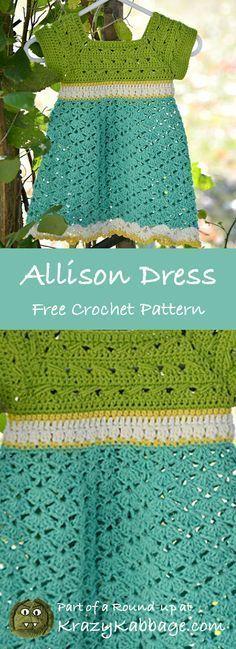 Children's Summer Dresses Free Patterns – Krazykabbage #freepattern #crochet #summer #fashion #dress #kids #toddler #craft #diy