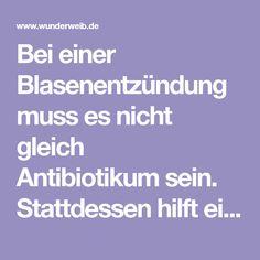 Bei einer Blasenentzündung muss es nicht gleich Antibiotikumsein. Stattdessen hilft ein Meerrettich-Zitronensaft, den du ganz einfach