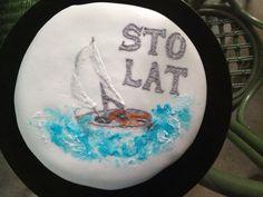 Birthday sailing cake! Snow Globes, Sailing, Cookies, Birthday, Cake, Home Decor, Candle, Crack Crackers, Birthdays