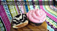 Zebra Cupcakes -