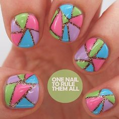 Awesome nail design by @onenailtorulethemall Envy, loosely inspired by @magnifiquenails #nailart #sdschallenge