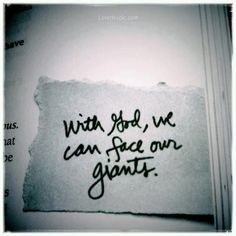 With God we can face our giants quotes god life faith